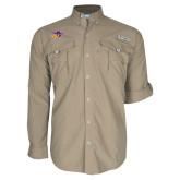 Columbia Bahama II Khaki Long Sleeve Shirt-HSU Cowboy