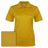 Ladies Gold Dry Mesh Polo-HSU