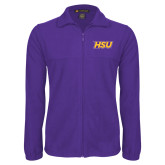 Fleece Full Zip Purple Jacket-HSU