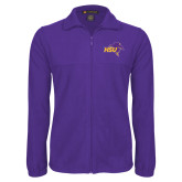 Fleece Full Zip Purple Jacket-HSU Cowboy