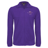 Fleece Full Zip Purple Jacket-Cowgirl Riding