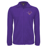 Fleece Full Zip Purple Jacket-Cowgirl Head