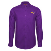 Red House Purple Long Sleeve Shirt-HSU Cowboy