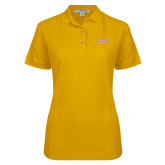 Ladies Easycare Gold Pique Polo-Hardin-Simmons Cowgirls