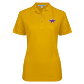 Ladies Easycare Gold Pique Polo-Cowgirl Riding