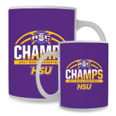 Full Color White Mug 15oz-2017 ASC Champs - Mens Basketball Half Ball