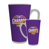 Full Color Latte Mug 17oz-2017 ASC Champs - Mens Basketball Half Ball