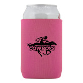 Neoprene Hot Pink Can Holder-Primary Logo