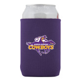 Collapsible Purple Can Holder-Primary Logo