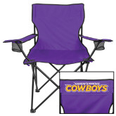 Deluxe Purple Captains Chair-Primary Logo