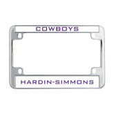 Metal Motorcycle License Plate Frame in Chrome-Cowboys