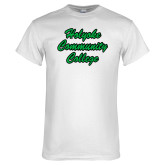 White T Shirt-Holyoke Community College Script