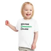 Toddler White T Shirt-Institutional Logo