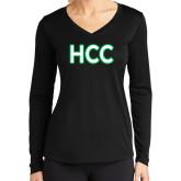 Ladies Syntrel Performance Black Longsleeve Shirt-HCC