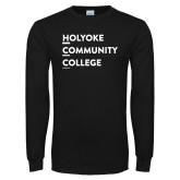 Black Long Sleeve T Shirt-Institutional Logo