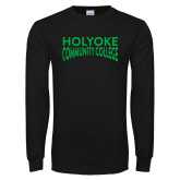 Black Long Sleeve T Shirt-Holyoke Community College