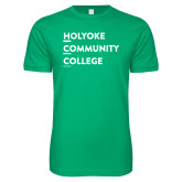 Next Level SoftStyle Kelly Green T Shirt-Institutional Logo