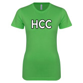 Next Level Ladies SoftStyle Junior Fitted Kelly Green Tee-HCC