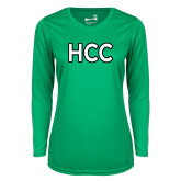 Ladies Syntrel Performance Kelly Green Longsleeve Shirt-HCC