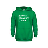 Youth Kelly Green Fleece Hoodie-Institutional Logo