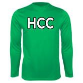 Performance Kelly Green Longsleeve Shirt-HCC