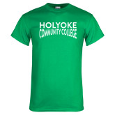 Kelly Green T Shirt-Holyoke Community College