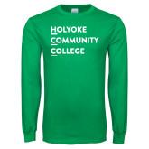 Kelly Green Long Sleeve T Shirt-Institutional Logo