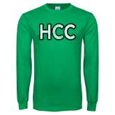Kelly Green Long Sleeve T Shirt-HCC Distressed
