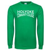 Kelly Green Long Sleeve T Shirt-Holyoke Community College