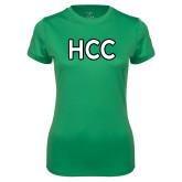 Ladies Syntrel Performance Kelly Green Tee-HCC