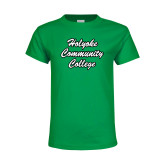 Youth Kelly Green T Shirt-Holyoke Community College Script