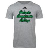 Adidas Sport Grey Logo T Shirt-Holyoke Community College Script