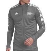 Adidas Grey Tiro 19 Training Jacket-Institutional Logo