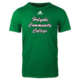 Adidas Kelly Green Logo T Shirt-Holyoke Community College Script
