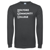 Charcoal Long Sleeve T Shirt-Institutional Logo