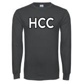 Charcoal Long Sleeve T Shirt-HCC