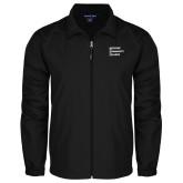 Full Zip Black Wind Jacket-Institutional Logo
