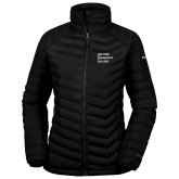 Columbia Powder Lite Ladies Black Jacket-Institutional Logo