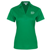 Ladies Kelly Green Performance Fine Jacquard Polo-Institutional Logo