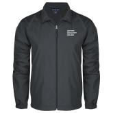 Full Zip Charcoal Wind Jacket-Institutional Logo