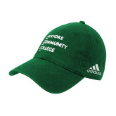 Adidas Kelly Green Slouch Unstructured Low Profile Hat-Institutional Logo