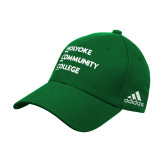 Adidas Kelly Green Structured Adjustable Hat-Institutional Logo