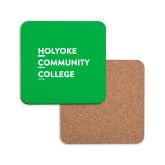 Hardboard Coaster w/Cork Backing-Institutional Logo