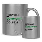 Full Color Silver Metallic Mug 11oz-Institutional Logo