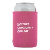 Neoprene Hot Pink Can Holder-Institutional Logo