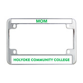 Metal Motorcycle License Plate Frame in Chrome-Institutional Logo Flat