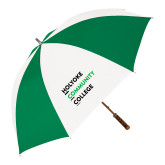 64 Inch Kelly Green/White Umbrella-Institutional Logo