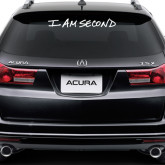 Super Large Decal-I Am Second, 42in W x 5.57in H