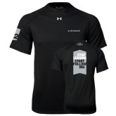 Under Armour Black Tech Tee-Stop Leading Start Following