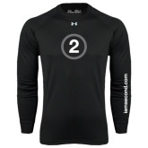 Under Armour Black Long Sleeve Tech Tee-2 Inside Circle